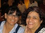 Nadia Shabana, ITUC (left), and Abla Masrujeh, Solidarity Center